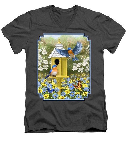 Bluebird Garden Home Men's V-Neck T-Shirt