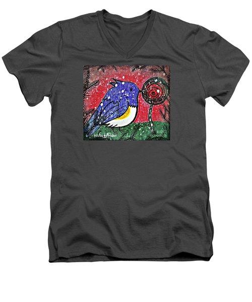 Bluebird Of The Season Men's V-Neck T-Shirt