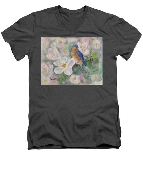 Bluebird Vignette Men's V-Neck T-Shirt
