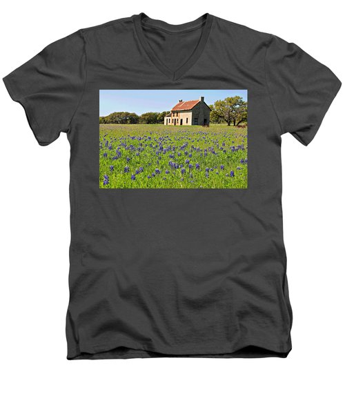 Bluebonnet Field Men's V-Neck T-Shirt