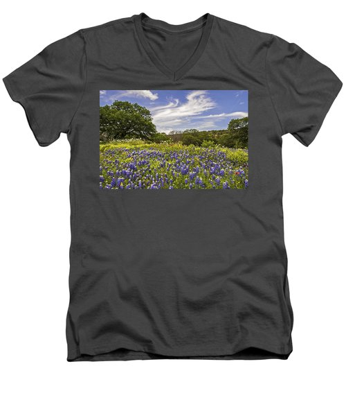 Bluebonnet Spring Men's V-Neck T-Shirt