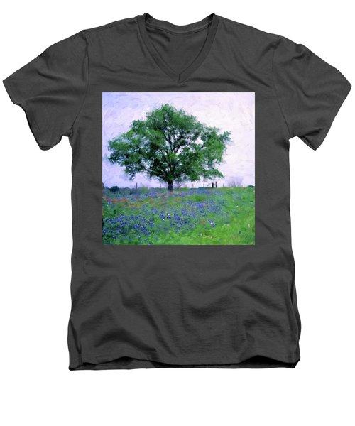 Bluebonnet Tree Men's V-Neck T-Shirt