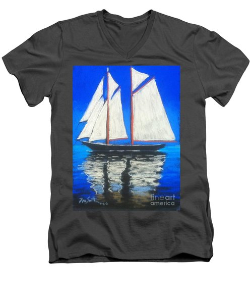 Bluenose 2 Men's V-Neck T-Shirt by Rae  Smith