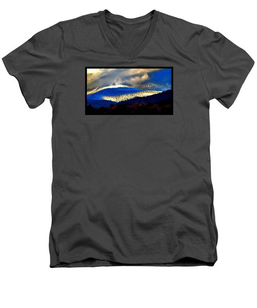 Blueray Winter New Mexico Men's V-Neck T-Shirt by Susanne Still