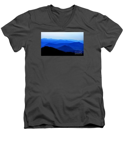 Blueridge Mountains - Parkway View Men's V-Neck T-Shirt