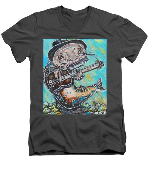 Blues Cat Revisited Men's V-Neck T-Shirt