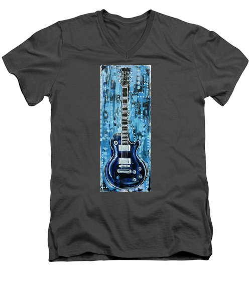 Blues Guitar Men's V-Neck T-Shirt