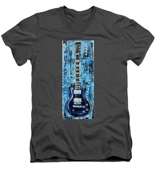 Blues Guitar Men's V-Neck T-Shirt