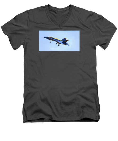 Men's V-Neck T-Shirt featuring the photograph Blues by Jerry Cahill