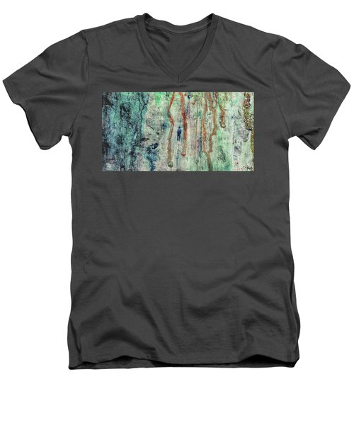 Standing In The Rain - Large Abstract Urban Style Painting Men's V-Neck T-Shirt