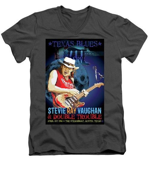 Bluesman Men's V-Neck T-Shirt by Gary Grayson