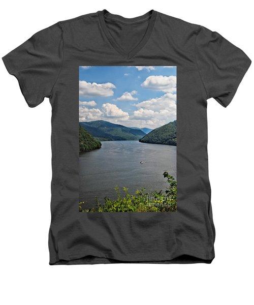 Bluestone Lake - Hinton West Virginia Men's V-Neck T-Shirt