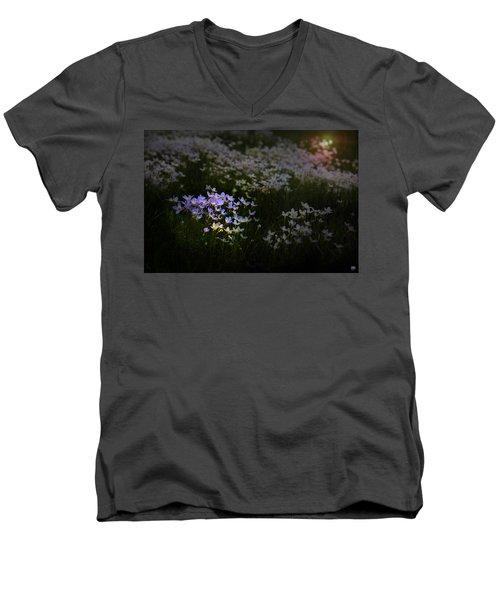 Bluets In Momentary Light Men's V-Neck T-Shirt