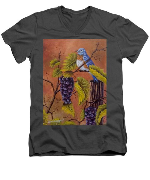 Bluey And The Grape Vine Men's V-Neck T-Shirt