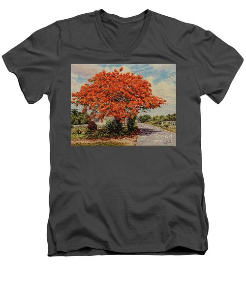 Bluff Poinciana Men's V-Neck T-Shirt