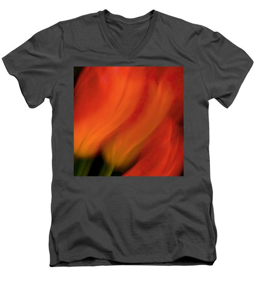 Blur De Lis Men's V-Neck T-Shirt
