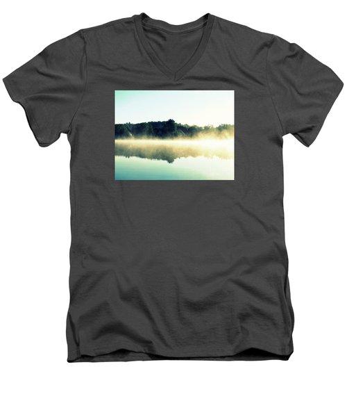 Blurry Morning Men's V-Neck T-Shirt by France Laliberte