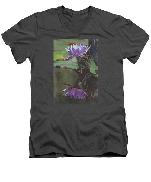 Blush Of Purple Men's V-Neck T-Shirt by Suzanne Gaff