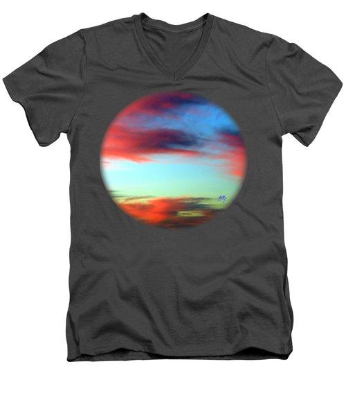 Blushed Sky Men's V-Neck T-Shirt by Linda Hollis