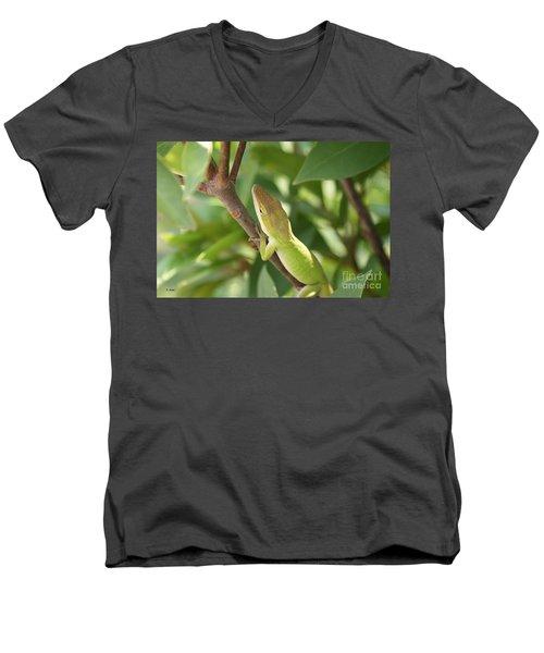 Blusing Lizard Men's V-Neck T-Shirt