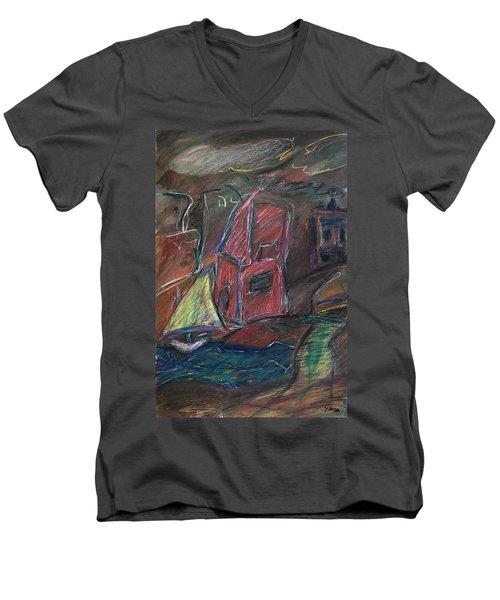 Bluster Men's V-Neck T-Shirt