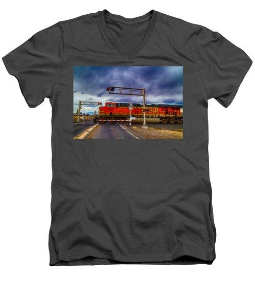 Bnsf 7682 Crossing Men's V-Neck T-Shirt