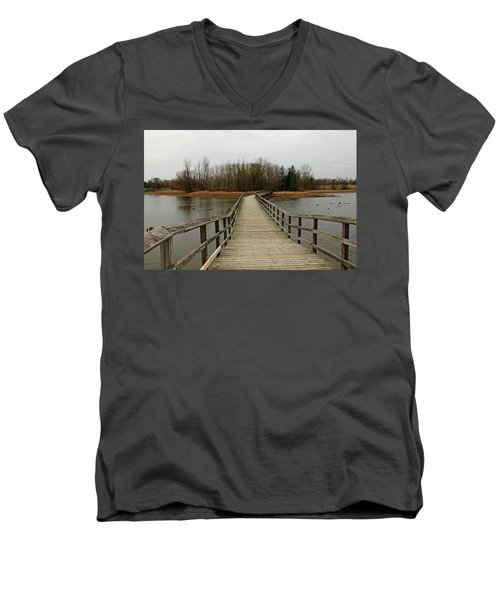 Boardwalk Men's V-Neck T-Shirt by Debbie Oppermann