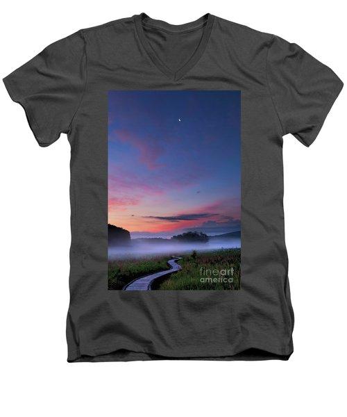 Boardwalk Men's V-Neck T-Shirt by Nicki McManus