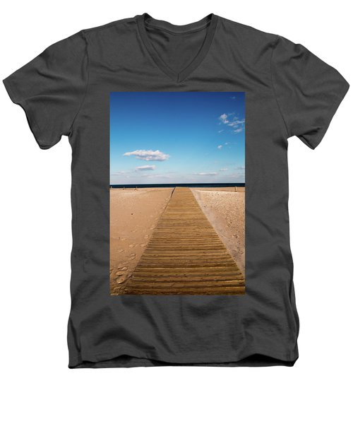 Boardwalk To The Ocean Men's V-Neck T-Shirt