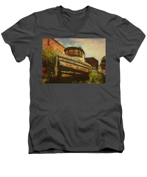 Boat At Apalachicola Men's V-Neck T-Shirt