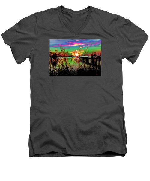 Boat Dock 3 Men's V-Neck T-Shirt