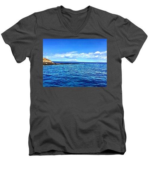 Boat Life 1 Men's V-Neck T-Shirt by Michael Albright
