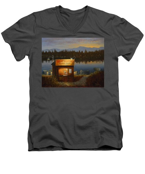 Boat Rentals Men's V-Neck T-Shirt