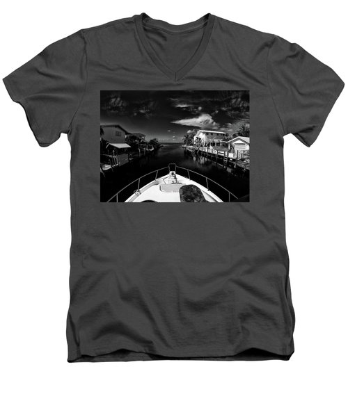 Boat Ride Men's V-Neck T-Shirt by Kevin Cable