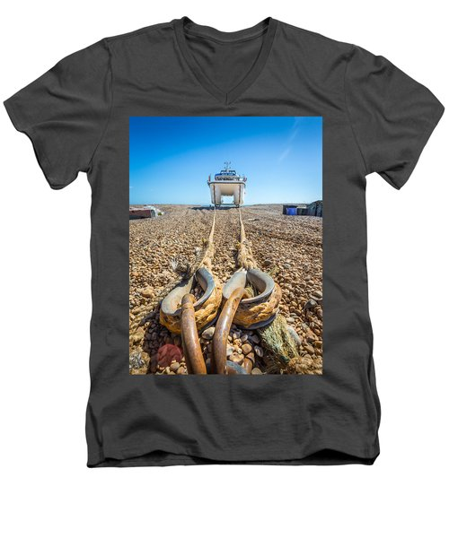 Boat Ropes. Men's V-Neck T-Shirt