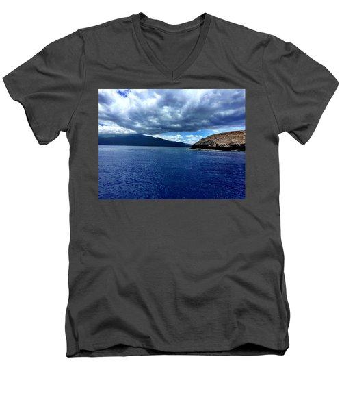 Boat View 3 Men's V-Neck T-Shirt by Michael Albright