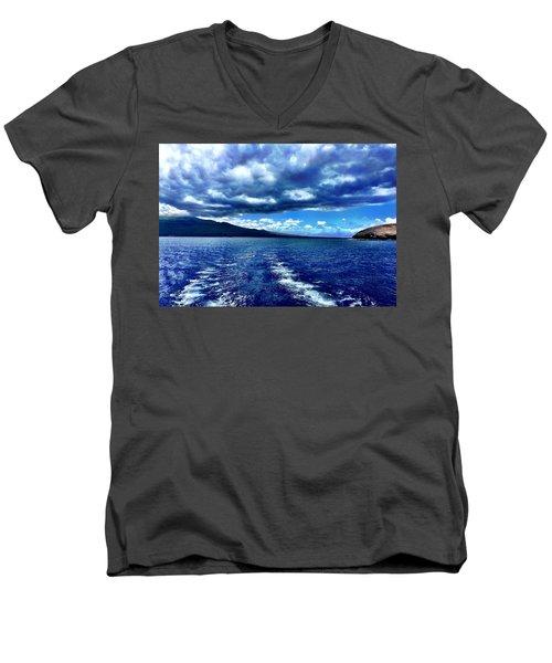 Boat View Men's V-Neck T-Shirt by Michael Albright