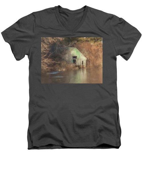 Boathouse On Solstice Men's V-Neck T-Shirt