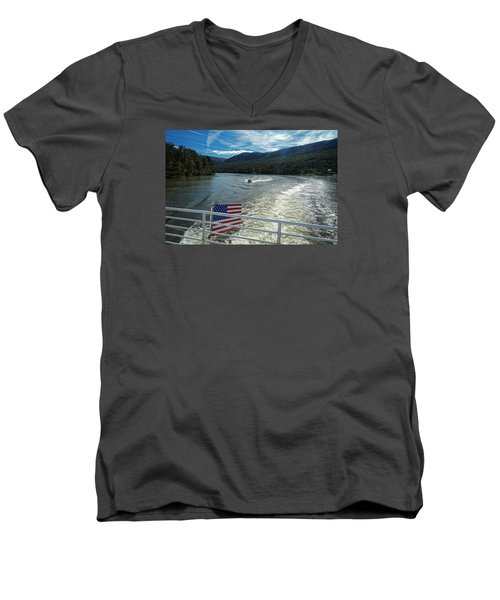 Boating On The River Men's V-Neck T-Shirt