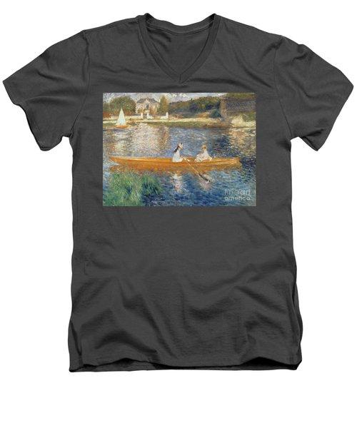 Boating On The Seine Men's V-Neck T-Shirt