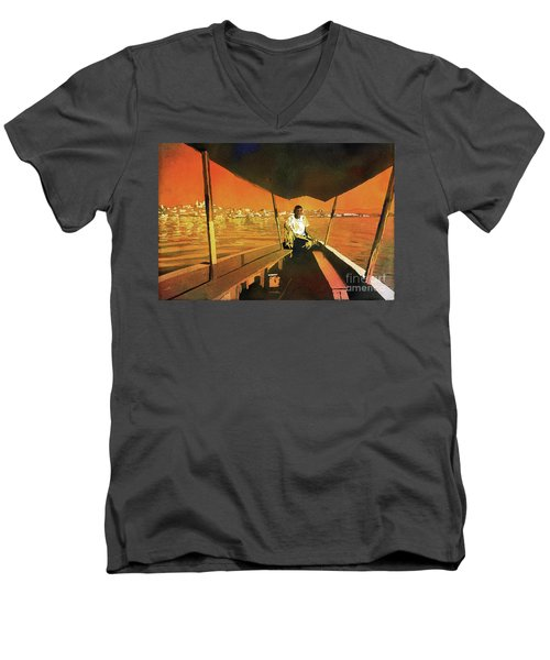 Boatman Guatemala Men's V-Neck T-Shirt by Ryan Fox