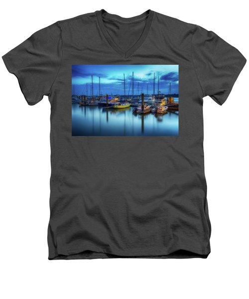 Boats In The Bay Men's V-Neck T-Shirt
