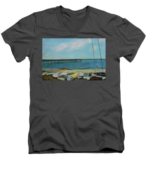 Boats Of Salt Run Too Men's V-Neck T-Shirt