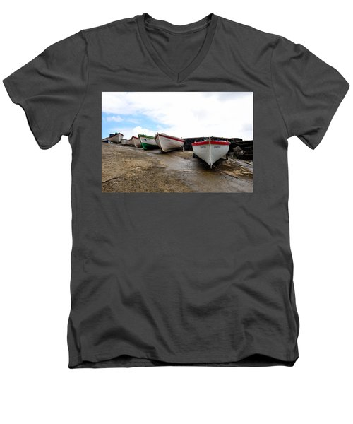 Boats,fishing-24 Men's V-Neck T-Shirt