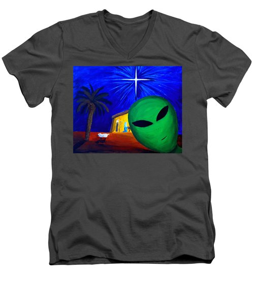 Bob At The Manger Men's V-Neck T-Shirt