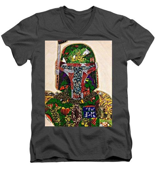 Boba Fett Star Wars Afrofuturist Collection Men's V-Neck T-Shirt