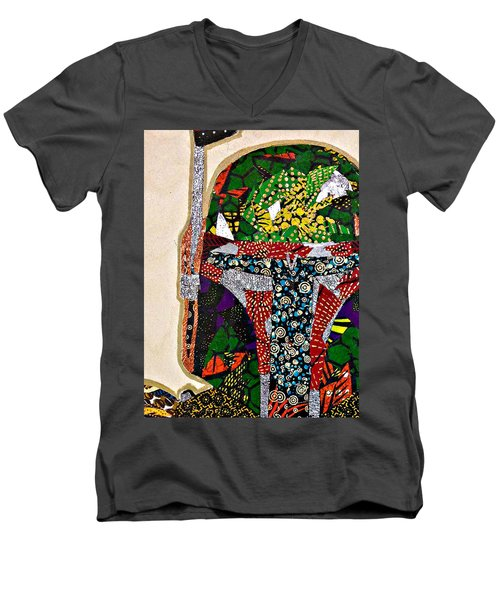 Boba Fett Star Wars Afrofuturist Collection Men's V-Neck T-Shirt