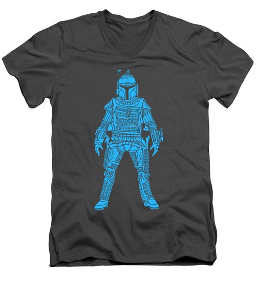 Boba Fett - Star Wars Art, Blue Men's V-Neck T-Shirt