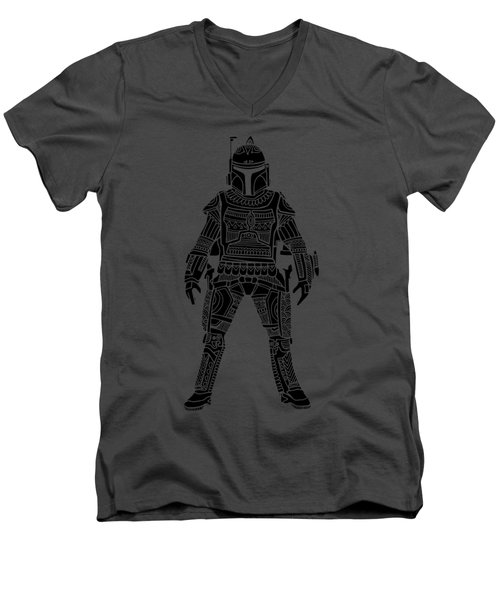 Boba Fett - Star Wars Art, Green Men's V-Neck T-Shirt