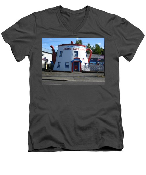 Bob's Java Jive Coffee Pot Men's V-Neck T-Shirt